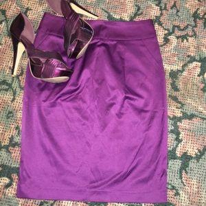 Forever21 Satin Midi Skirt